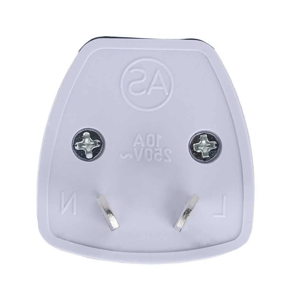 2 контакта универсальный внешний путешествия мощность AU адаптер конвертер Разъем для Австралии/Новой Зеландии 250 В Макс. 5А белый разъем AU