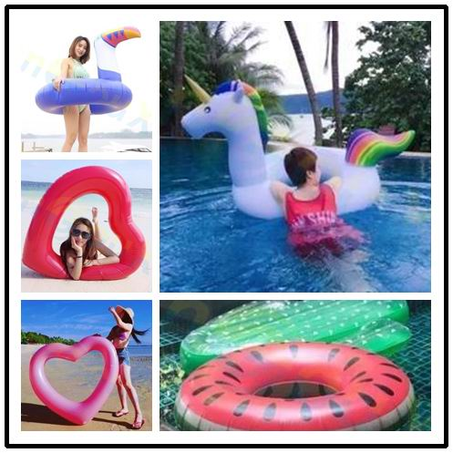 175*120CM Adult Giant Inflatable unicorn Swimming Rings Pool Float Toy Water Mattress Lifebuoy Beach Party Sea Swimming Circle