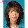 New Arrival Short Straight Brown Colour Heat Resistant Synthetic Wigs For Black Women Perruque Afro Perucas Free Hair Cap Peruk