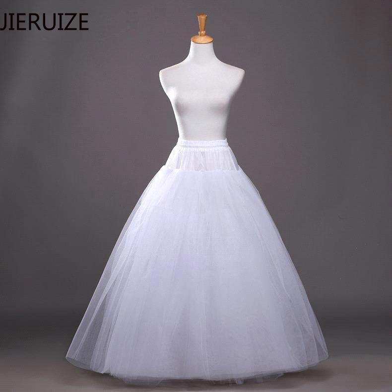 JIERUIZE Hard Tulle Ball Gown Petticoats For Wedding Dress High Quality Wedding Underskirt Crinoline Wedding Accessories