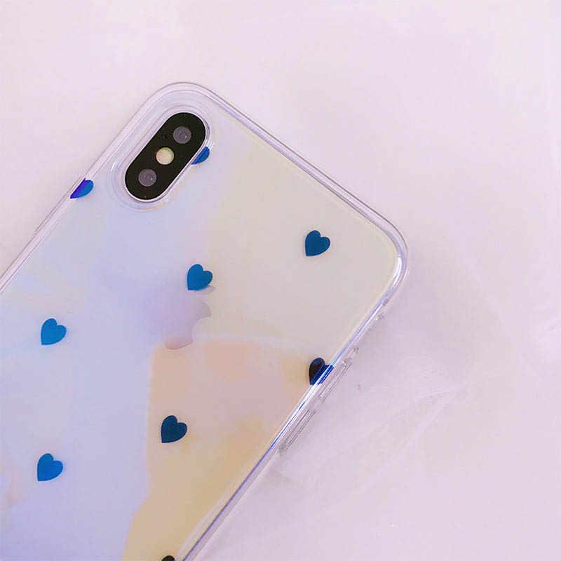 Blu-ray Cỡ Nhỏ yêu tất cả-Đã bao gồm ốp lưng điện thoại iPhone 6 6 S 7 8 thời trang sang trọng chống thả Ốp lưng điện thoại cho Iphone X XS
