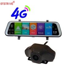 Otstrive 10 дюймов ADAS WiFi Bluetooth Android 8,1 gps двойной объектив фронтальная камера задняя камера DVR видео рекордер зеркало заднего вида DVR