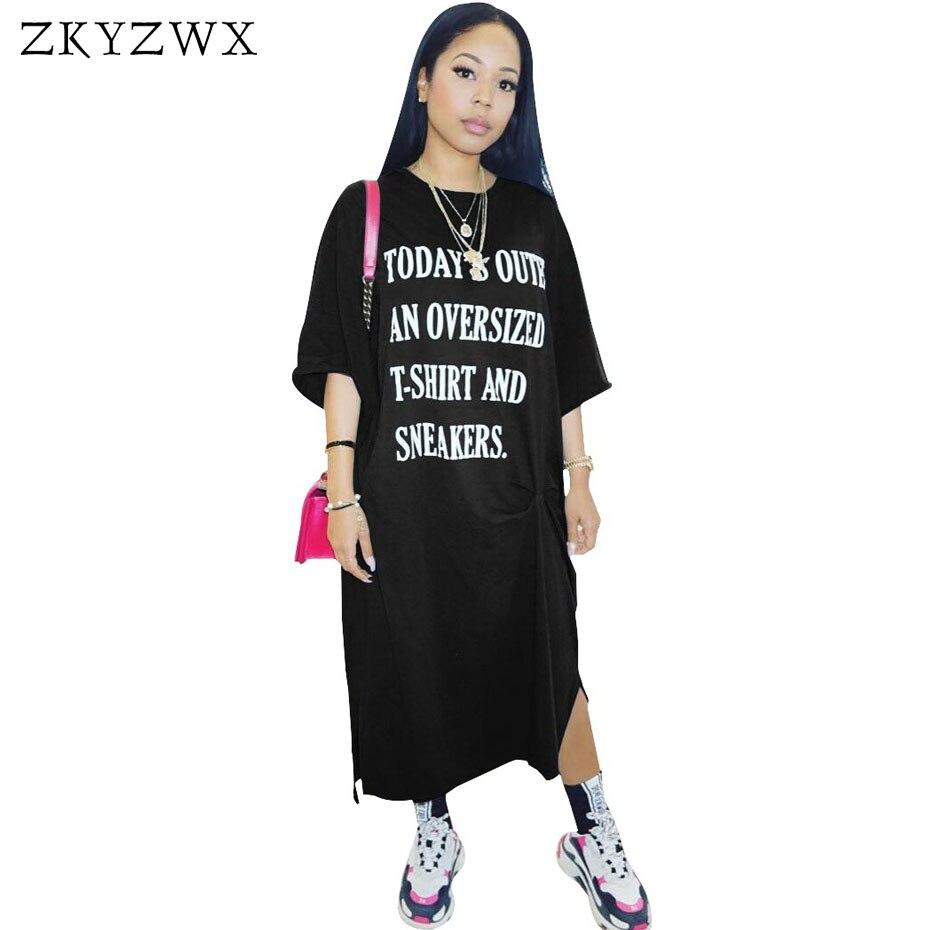 ZKYZWX S-XXL Frauen Beiläufige Lose Kleid 2018 Neue Vestidos Damen ...