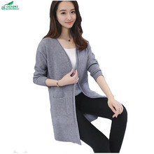 Spring and Autumn in the long section of sweater women cardigan Korean 2017 spring women sweater Outerwear coat tide OKXGNZ Q917