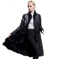 Real Fur Coat Autumn Winter Jacket Women Clothes 2018 Wool Liner Genuine Leather Jacket Women Tops Korean Sheepskin Coats ZT1189