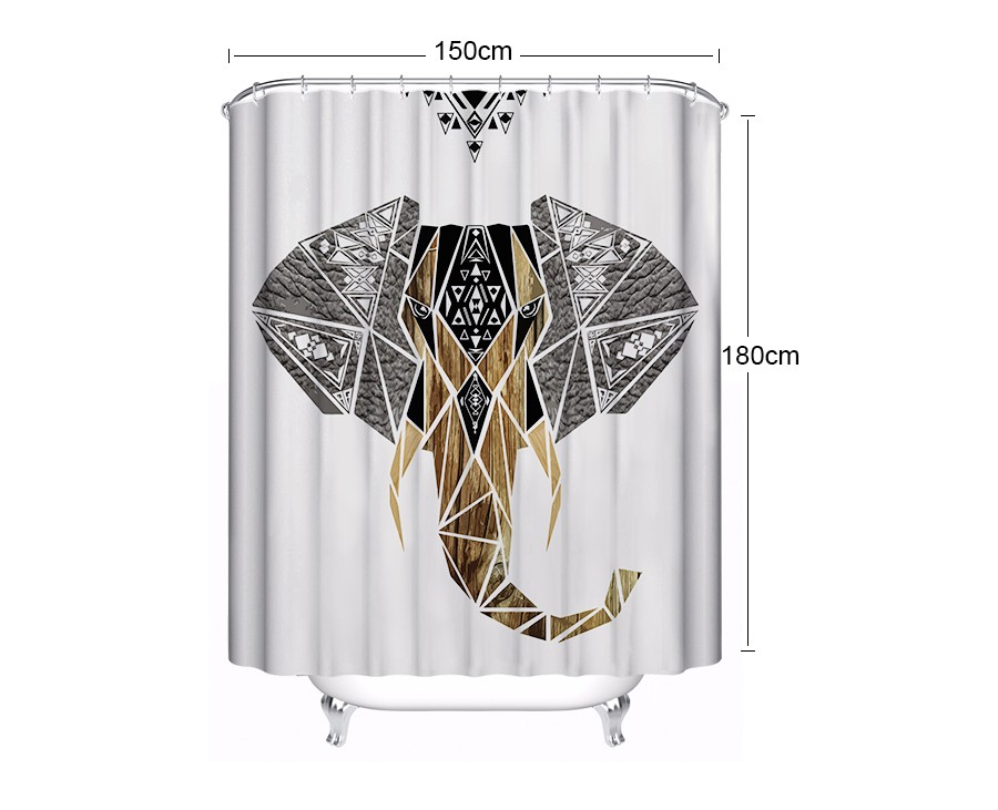 shower curtain for bathroom (5) Size