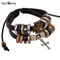 Retro rope leather mens bracelets leather rope hand woven bracelet for men rope braided bracelet male female bracelet Jewelry