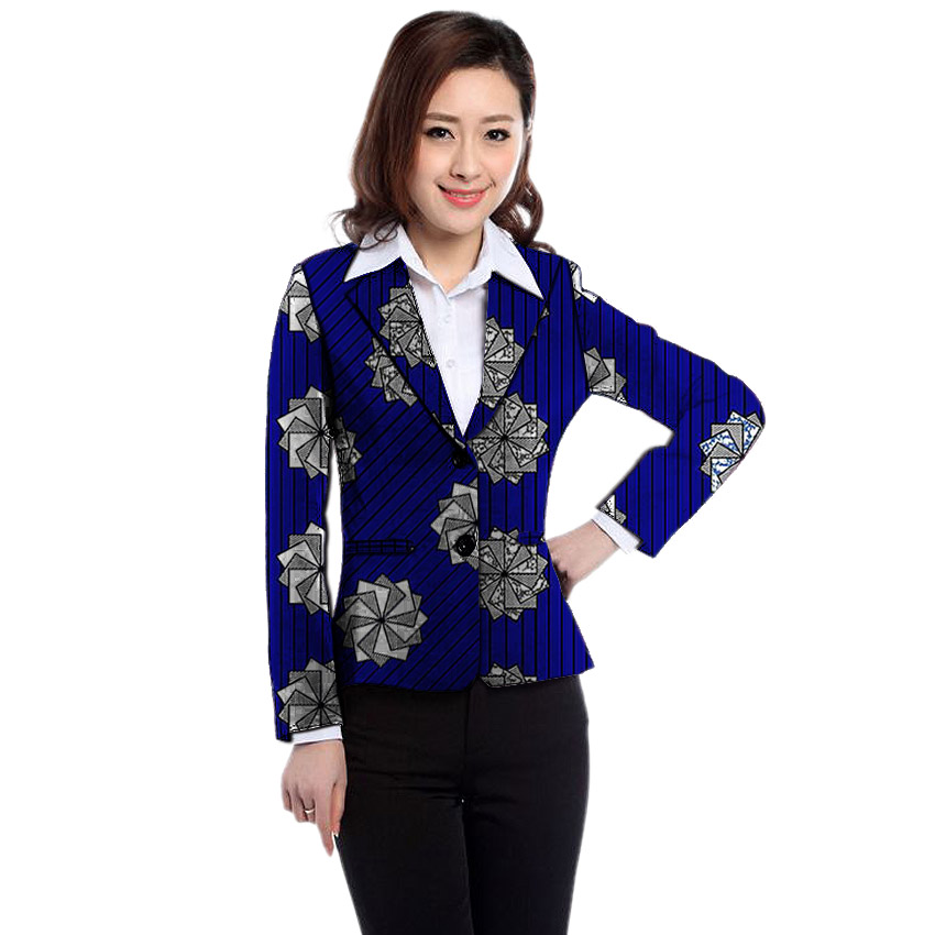 African Clothes Women's Print Blazers Slim Fit Ankara Fashion Suit Jackets Custom Made Wedding Jackets Formal Outfit