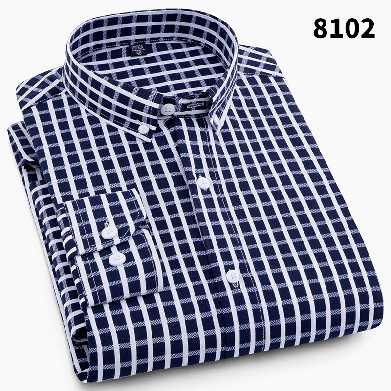 Uwback Plaid Shirts Men 2018 New Brand Autumn Striped Long Sleeve Dress Shirts Slim Fit  ...