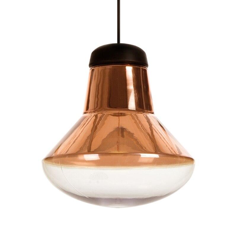 BLUBBLE nordique laiton verre pendentif lumières 33*32 cm grande ampoule LED Vintage Hanglamp AC 110-240 V originalité chambres suspension