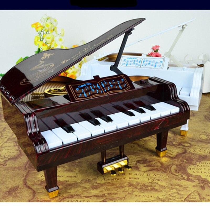 Новая музыкальная шкатулка педали фортепиано четырнадцать клавиатура играть ремесленное домашний Desktop украшения подарок на день рождения ...