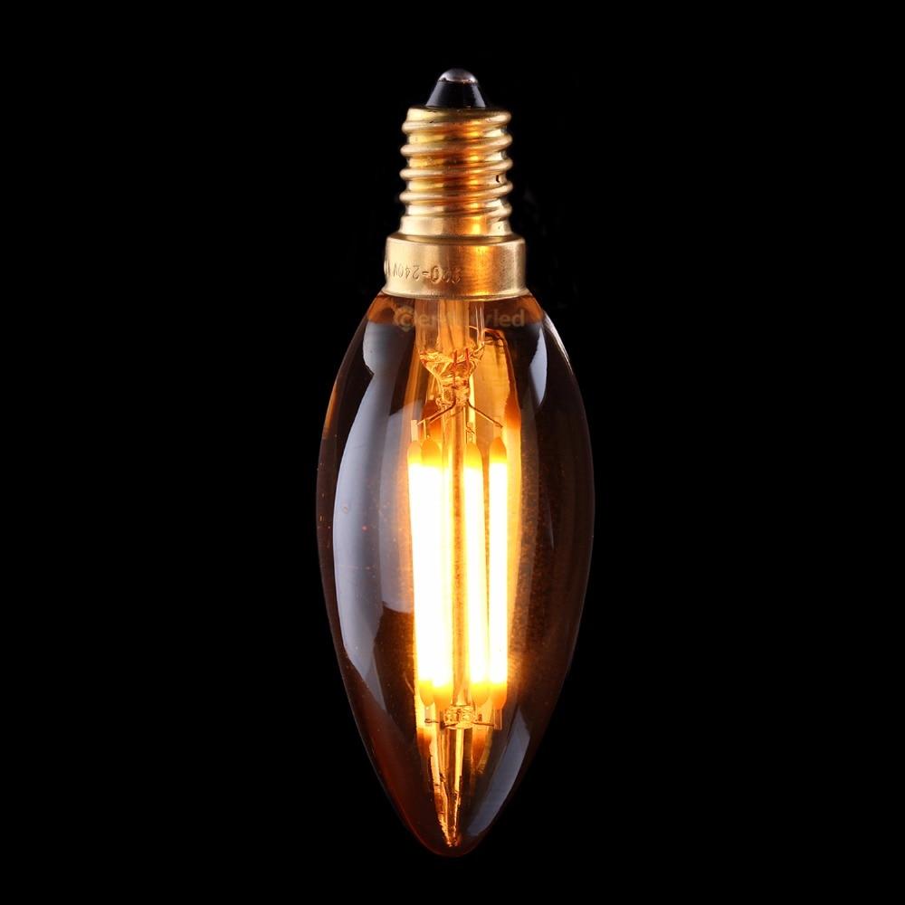 Vintage Led Filament Bulb 4w Gold Tint 2200k Edison C35