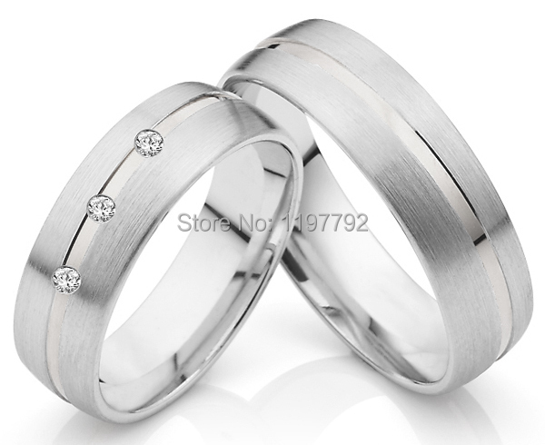 2014 best custom tailor made men's and women's  titanium wedding bands for couples