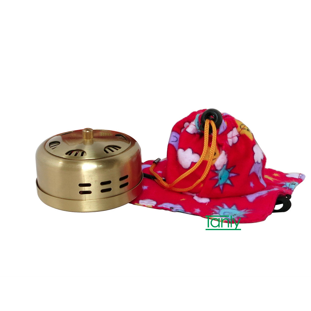 Wholesale and Retail new type thicken pure copper health beauty Moxa Box Moxibustion device  8set/lot pure cupper big size body moxibustion device moxa cone health beauty face tool 9pieces set 45 1 moxa roll