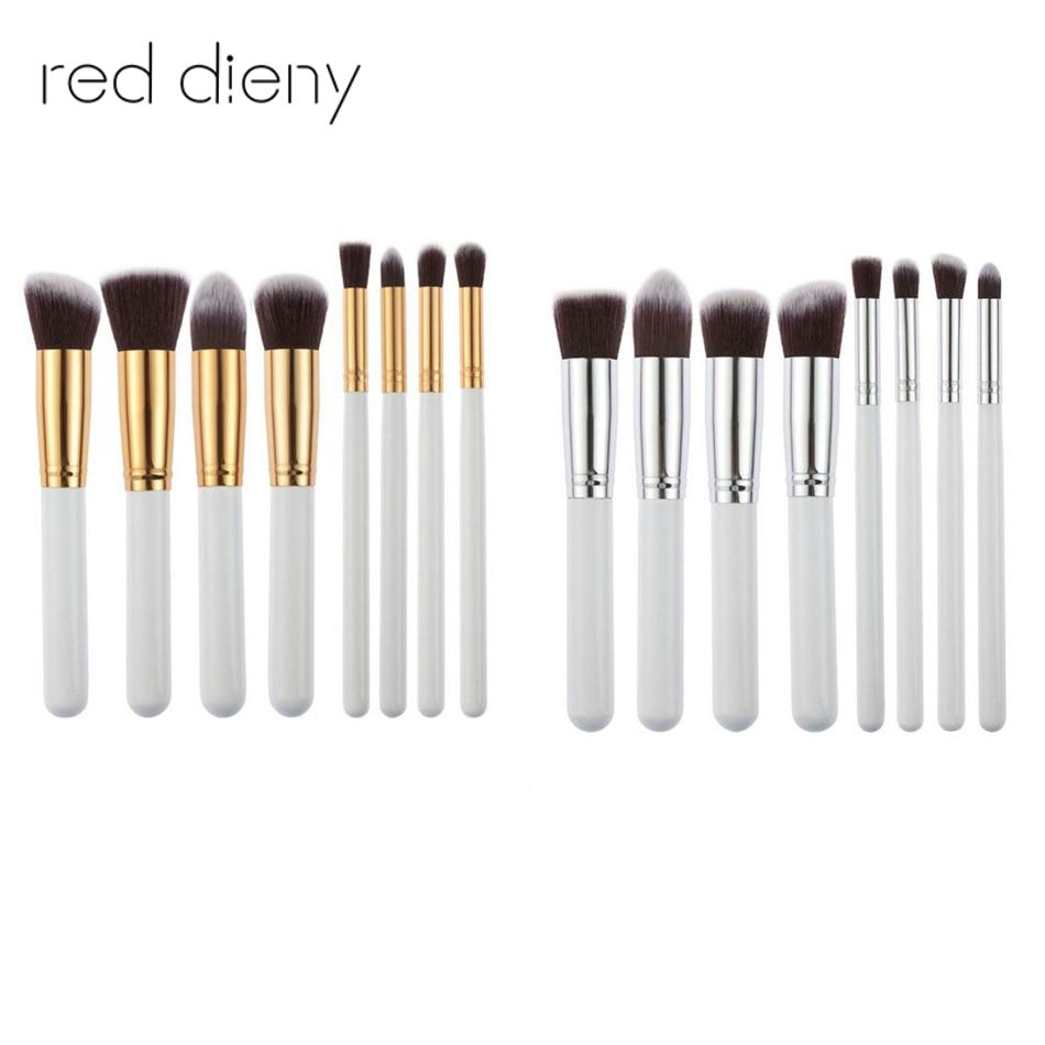 8pcs/set  Makeup Brushes Set Pro Cosmetics Foundation Loose Powder Blusher Shadow Eyebrow Liner Brushes Blending Make Up Set