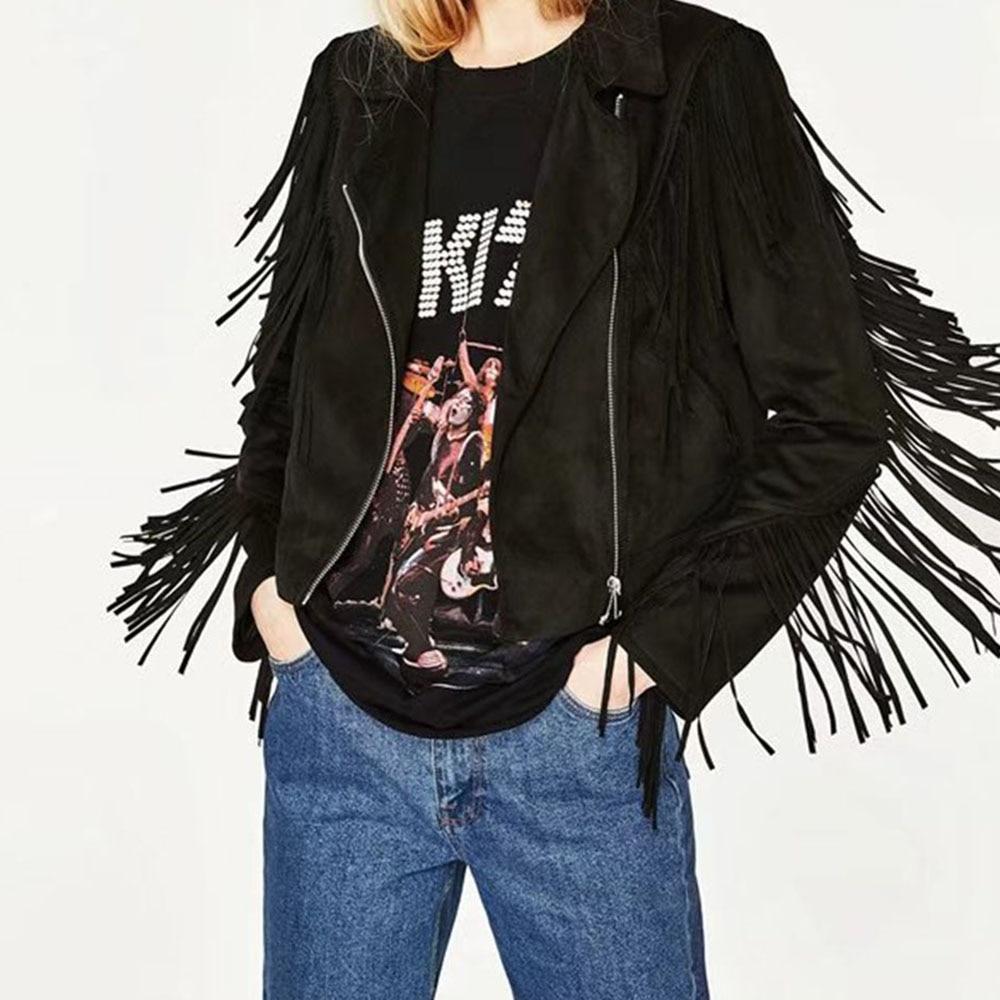Mode Style Punk Filles Haute Mince Populaire Rock Black Noir Jeunes Veste Rue Plaine Occidental Gland Automne Femmes Fermeture tqpnPwx5PR