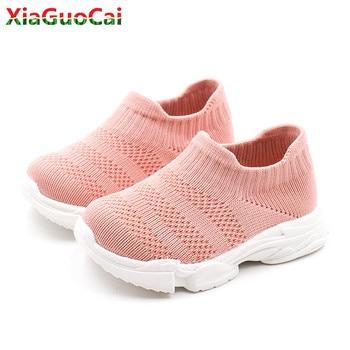 2019 New Toddler Socks Shoes Children Baby Autumn Spring Sport Soft Breathable Sneakers Boys Girls Infant Knitting Toddler Shoe
