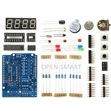 OPEN-SMART Clock Shield Kit RTC Display Expansion Board w/ Light Sensor / LED / Soldering Guide for Arduino
