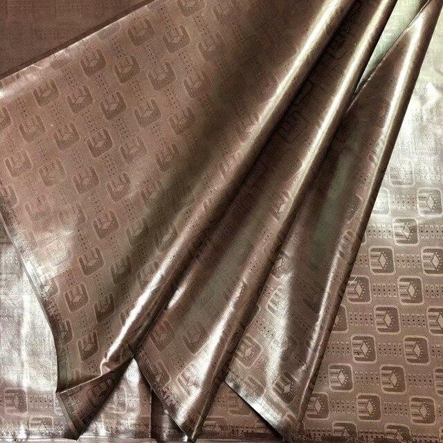Atiku tessuto per gli uomini bazin riche getzner 2018 nouveau bazin riche tessuto guinea broccato tessuto di alta qualità 5 yard/ set KFZ-1