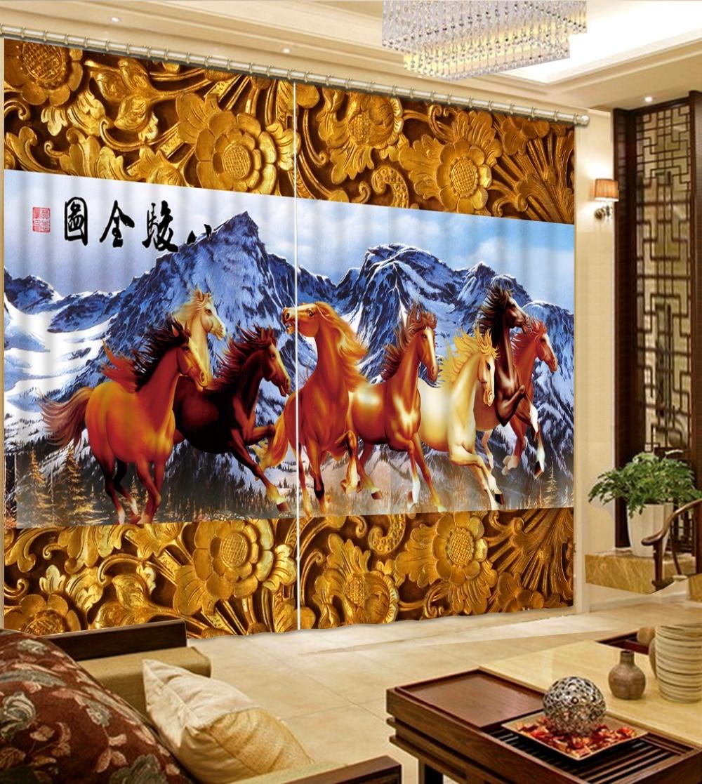 Online kopen Wholesale paard gordijn uit China paard gordijn ...