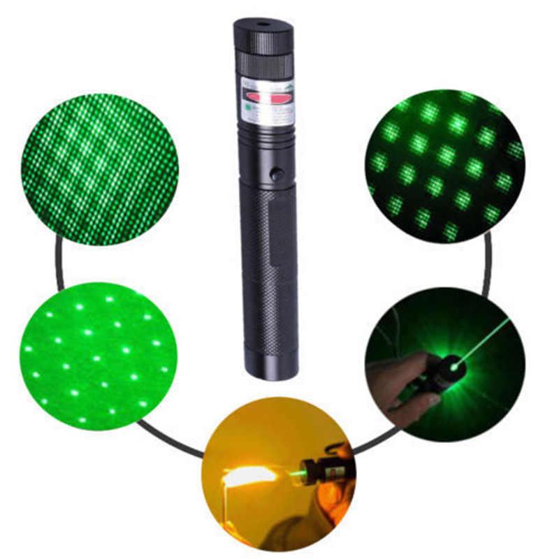 10 קילומטרים 532nm 303 ירוק לייזר מצביע עט קרן גלויה אור עם סוללה + מטען ערכת LSMK99