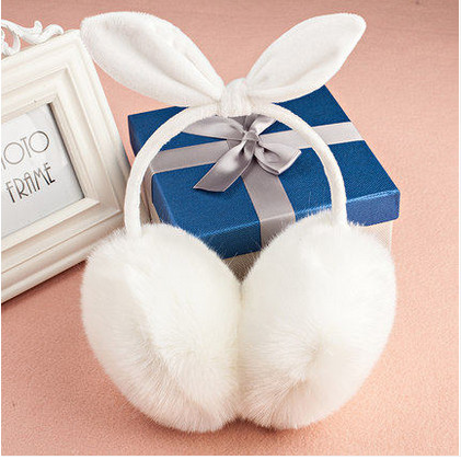 2017 New Imitation Of Rabbit Hair Autumn And Winter Thermal Earmuffs General Women Lady Bowknot Ear Package AU0056