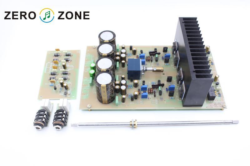 GZLOZONE Assembeld HA-5000 Class A Headphone Amplifier Board Clone Technica HA5000 gzlozone assembeld njw1194 remote volume conrol board treble