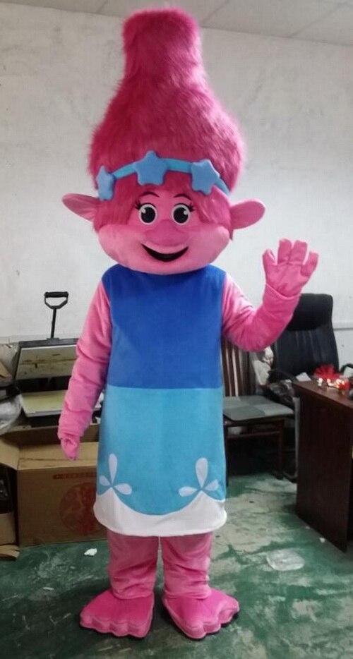 Новые тролли Маскоты костюм тролли полный взрослых наряд Маскоты парад качество клоуны дни рождения Тролль Бесплатная доставка
