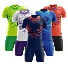 Survete, мужские футболки для футбола, новинка, Детские мужские футболки для футбола, набор, пустая футбольная команда, тренировочный костюм, Дышащие Короткие футбольные формы с принтом