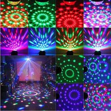 Magic Color Led Stage Lights KTV DJ Chirstmas Lamps 3W Sound Actived Crystal Disco Ball Xmas Holiday Party Room decor Trendy IQ(China)