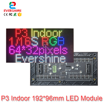 цена на P3 Indoor SMD2121 1/16 Scan 3in1 RGB Full Color LED Display Screen Paniel Module 192*96mm 64*32 pixels, P3 Indoor RGB LED Module