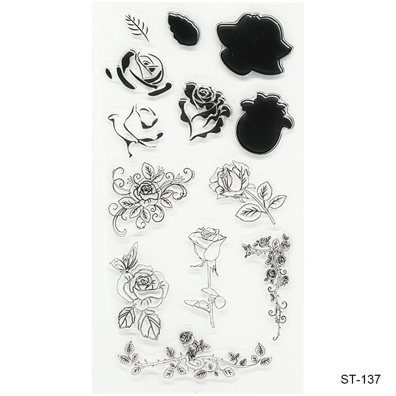 Beautiful flowers  Design Silicone Transparent Stamp Clear Stamps Set for DIY Scrapbooking Photo Album Decoration Supplies lovely animals and ballon design transparent clear silicone stamp for diy scrapbooking photo album clear stamp cl 278