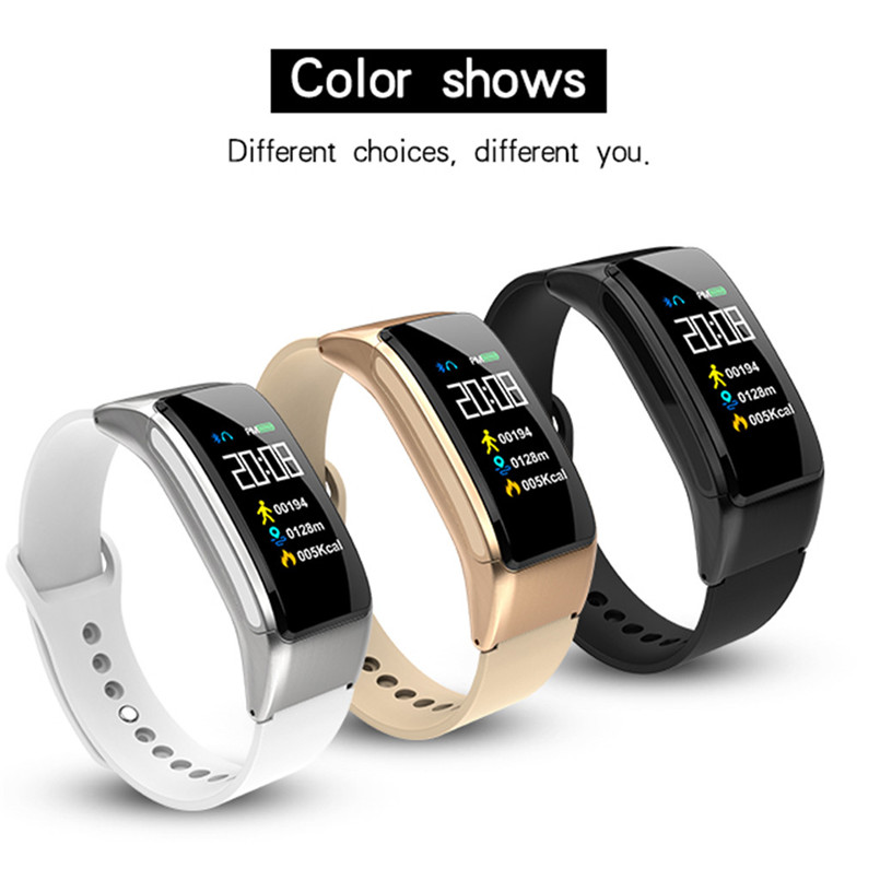 B31 Smart Bracelet Bluetooth Call Bracelet Headset 2 in 1 Smart Watch 0.96 Inch IPS Color AI Voice Intelligence 40AP10-in Smart Wristbands from Consumer Electronics    1