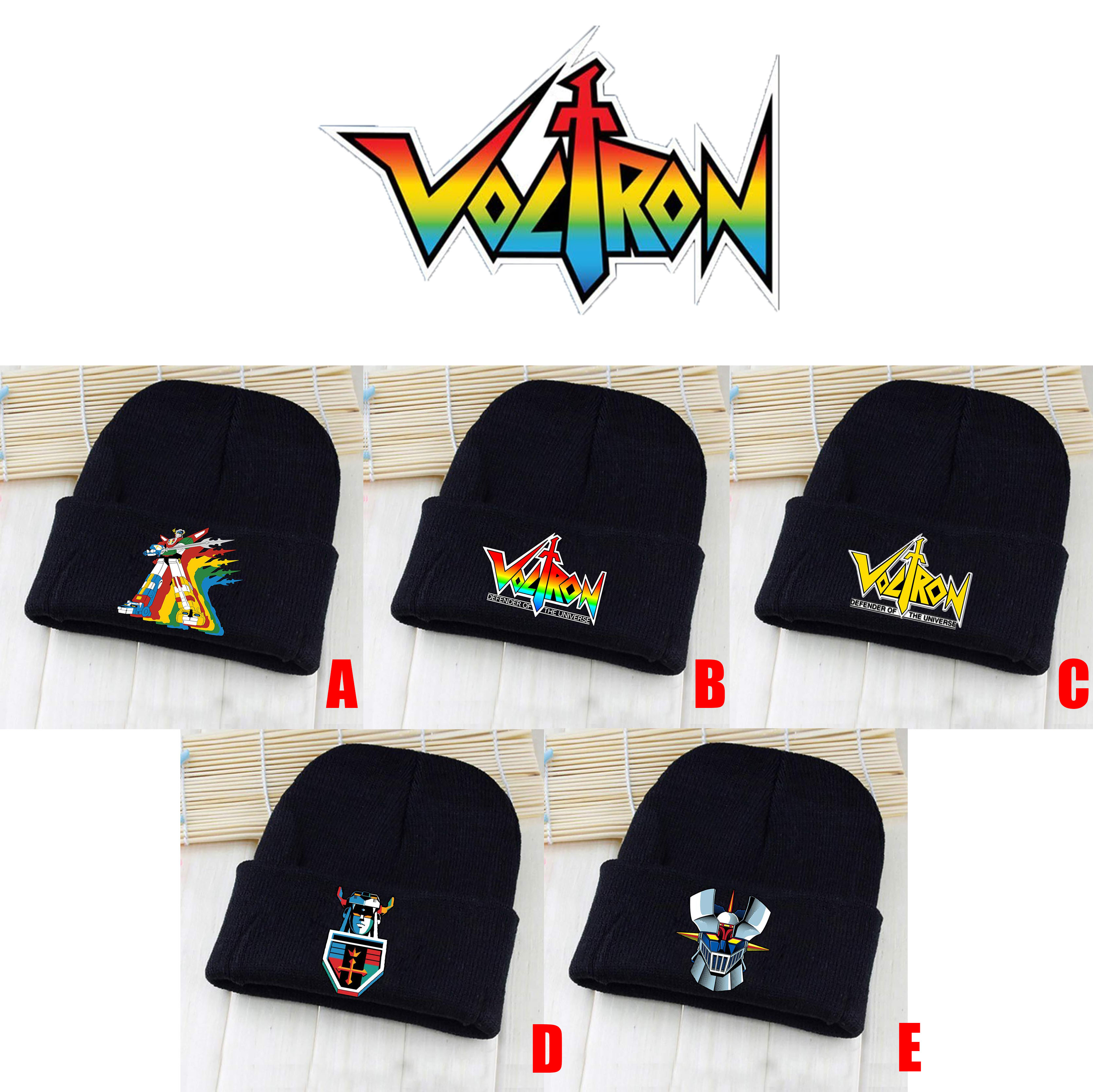 Anime Voltron: Legendary Defender Black Skullies Beanie Knitted Cotton Hat Cap Cosplay Costume Unisex Fashion Gifts Cool