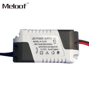 Image 4 - LED sterownik prądu stałego 85 265V 1 3W 4 5W 4 7W 8 12W 18 24W wyjście zasilania 300mA dysk zewnętrzny dla LED typu downlight