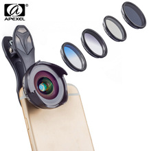 APEXEL Mobile Phone Lenses Wide Angle/Ma
