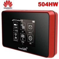 unlocked huawei 4g wifi router portable 4g Pocket WiFi 504HW 4g mifi router with sim card wifi mobile 4G LTE Cat6 Mobile Hotspot