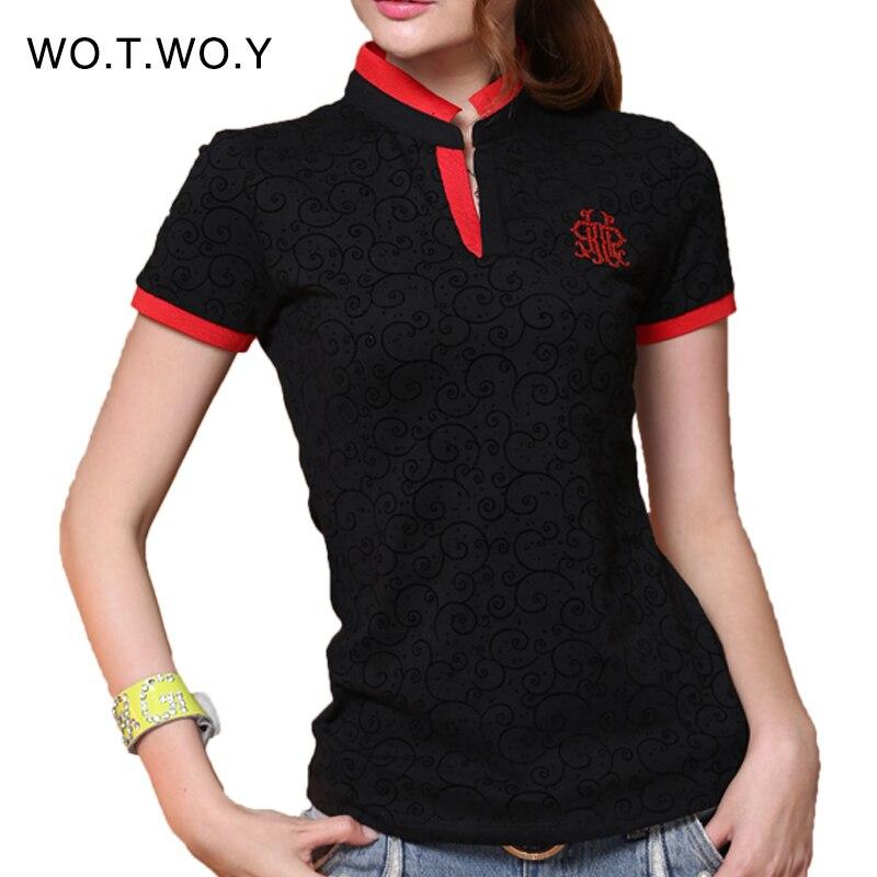 High Quality 2015 New Arrival Fashion V Neck Cotton T Shirt Print Short Sleeve Regular Women