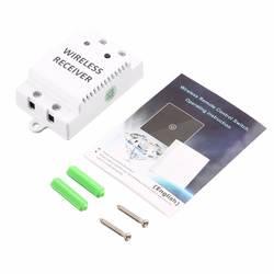 Беспроводной удаленного Управление Touch настенный выключатель света закалки Стекло Панель + Беспроводной приемник светодиодный умный дом