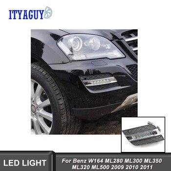 Testa Della Lampada copertura car styling DRL Per Benz W164 ML280 ML300 ML350 ML320 ML500 2009-2011 luce di marcia diurna lampada di segnalazione
