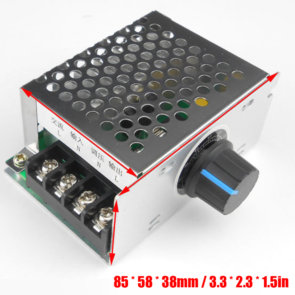 US $7 73 50% OFF|220V Voltage Regulator Dimmer Electric Motor Speed  Controller Thermostat Pressure Controllers Industrial Accessory-in Voltage