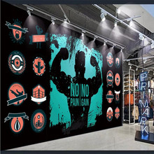 Custom 3d wallpaper black background gym personality tooling background wall high-grade waterproof material 42crmo material press brake upper tooling