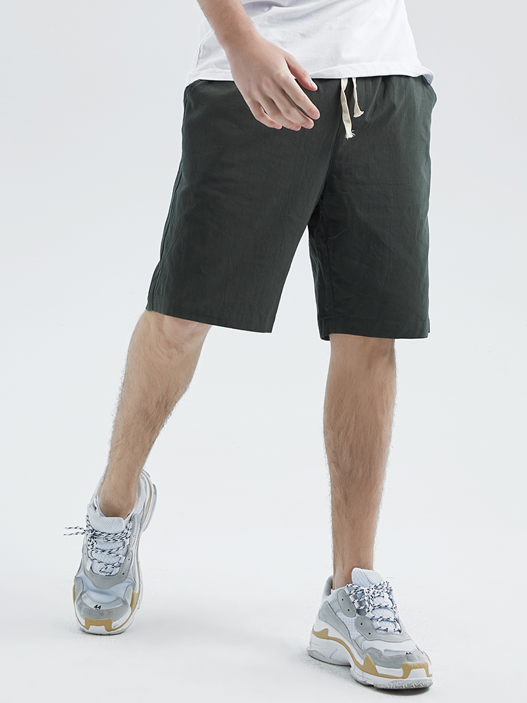 Pioneer Camp 2019 Mens Shorts Quality Short Pants Male 100 Cotton Solid Jogger Men Casual Short five colors ADK901184 in Casual Shorts from Men 39 s Clothing