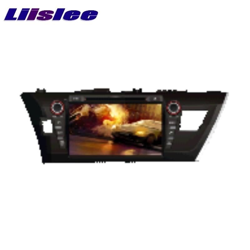 For Toyota Corolla 2013~2017 LiisLee Multimedia TV DVD GPS Audio Stereo Hi-Fi Radio Original Style Navigation NAV