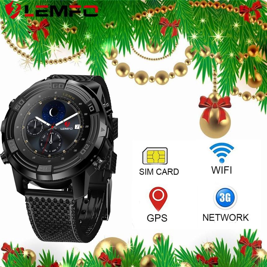 LEMFO LEM6 Bluetooth 4 0 Smart Watch Android 5 1 16GB SIM Card Waterproof Gps Watches