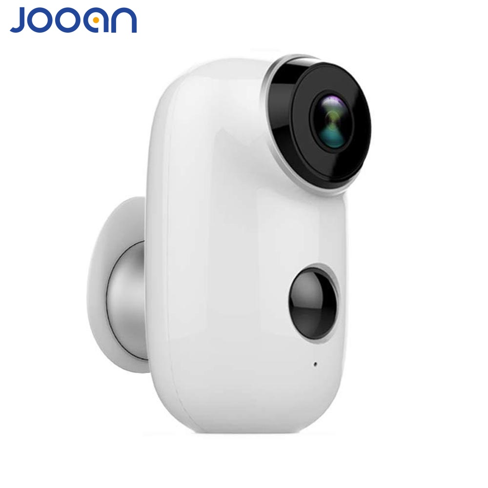Jooan Battery Powered Camera 100 Wire Free 720P Full HD Outdorr Indoor Security 130 Wide View