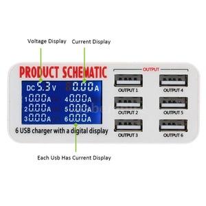 Image 2 - Carregador usb portátil com 6 entradas usb, entrada rápida, carregador rápido, para iphone e ipad samsung tablet
