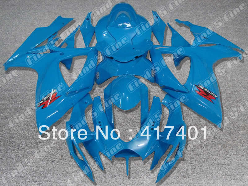 blue for SUZUKI GSX R600 R750 06-07 GSXR 600 750 GSXR600 GSXR750 GSX-R600 GSX-R750 K6 06 07 2006 2007 fairing kit