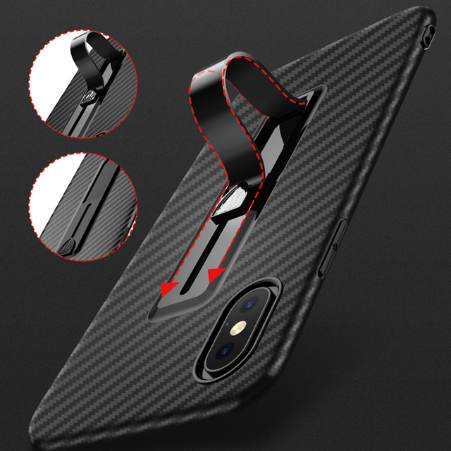 88ee4177f3000e Ring Holder Case For iPhone XS Max XR XS Carbon Fiber Pattern Soft  Stretchable Kickstand Stand