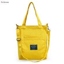 Foikvoon Handbag Women Simple Canvas Bag Handbags For Woman Fashion Girl Messenger Bags Brand сумка eshow purple women canvas messenger bag eshow bfk010881 bfk010881 woman canvas handbags